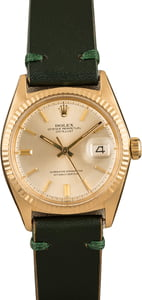 Vintage Rolex Datejust 1601 Yellow Gold Watch