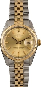Pre Owned Rolex Datejust 1601 Champagne Index Dial