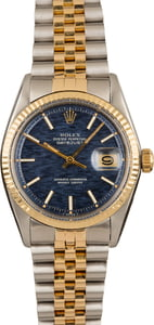 Pre-Owned Rolex Datejust 1601 Blue Textured Dial