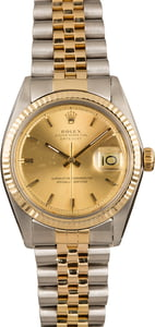 Pre-Owned Rolex Datejust 1601 Champagne Dial Watch
