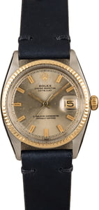 Pre-Owned Rolex Datejust 1601 Leather Bracelet Watch