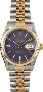 Rolex Datejust 1601 Blue Index Dial