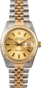 Datejust Rolex 16013 Two-Tone Men's