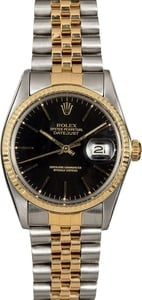 Men's Rolex Datejust 16013 Black Dial
