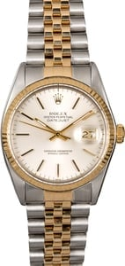 Men's Rolex Datejust 16013 Two-Tone Jubilee