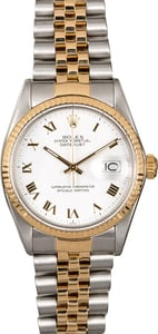 Men's Rolex Datejust 16013 White Roman Dial