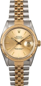 Men's Rolex Datejust 16013 Champagne Index