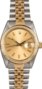 Men's Rolex Datejust 16013 Fluted Bezel