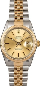 Men's Rolex Datejust 16013 Two-Tone Jubilee Band