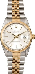 Pre-Owned Rolex Datejust 16013 Fluted Bezel