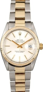 Authentic Rolex Datejust 16013 Two Tone Oyster