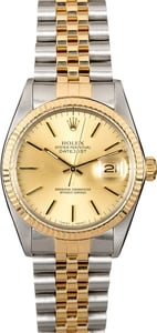 Pre-Owned Rolex Datejust 16013 Two Tone Jubilee