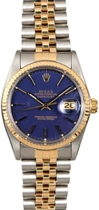 Rolex Datejust 16013 Blue Dial Two Tone Jubilee