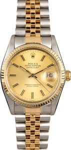 Champagne Rolex Datejust 16013 Two Tone
