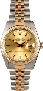 Rolex Datejust 16013 Two Tone Jubilee Men's Watch