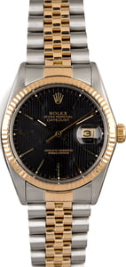 Rolex Datejust 16013 Black Tapestry Index Dial