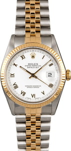 PreOwned Rolex Datejust 16013 White Roman