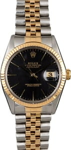 PreOwned Rolex Datejust 16013 Black Tapestry Dial