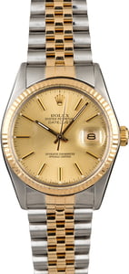 Rolex Datejust 16013 Champagne Dial Two Tone