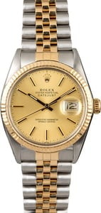 Certified Men's Rolex Datejust 16013 Two Tone Jubilee