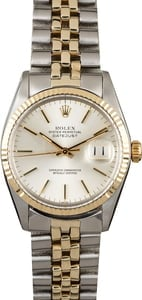 Pre-Owned Rolex Datejust 16013 Silver Dial