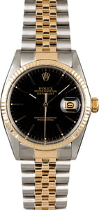Rolex Datejust 16013 Black Index Dial