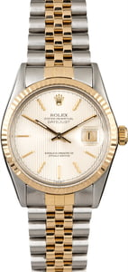 Pre-Owned Rolex Datejust 16013 Silver Tapestry Dial