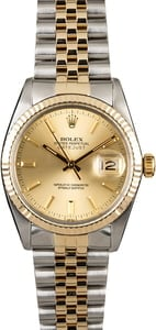 Rolex Datejust 16013 Champagne Index Dial
