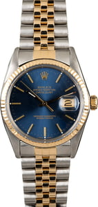 Used Rolex Datejust 16013 Blue Dial