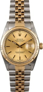 Pre-Owned Rolex Datejust 16013 Champagne Dial