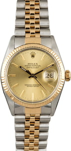 Pre-Owned Rolex Datejust 16013 Steel & Gold Watch