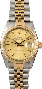 PreOwned Rolex Datejust 16013 Steel & Gold Watch