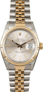 PreOwned Rolex Datejust 16013 Silver Dial