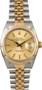 PreOwned Rolex Datejust 16013 Champagne Index Dial