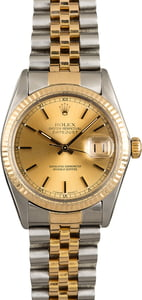 Used Rolex Datejust 16013 Steel & Gold Watch
