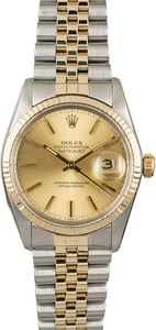 Men's Rolex Datejust 16013 Steel & Gold Watch