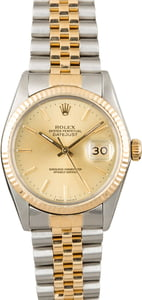 PreOwned Rolex Datejust 16013 Steel & Yellow Gold