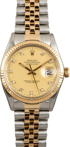 Rolex Datejust 16013 Diamond Champagne Dial