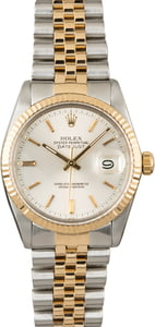 PreOwned Rolex Two Tone Datejust 16013