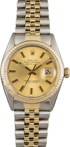 Rolex Datejust 16013 Certified Pre-Owned Champagne Dial