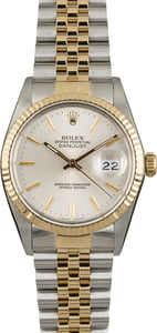 Used Rolex Datejust 16013 Silver Index Dial