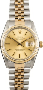 Used Rolex Datejust 16013 Champagne Dial