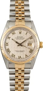 Rolex Datejust 16013 Ivory Pyramid Dial