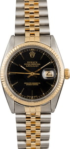 Used Rolex Datejust 16013 Black Index Dial