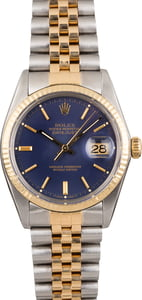 PreOwned Rolex Datejust 16013 Blue Dial