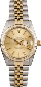 Pre Owned Rolex Datejust 16013 Champagne Dial Jubilee