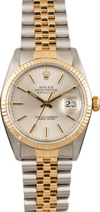 PreOwned Rolex Datejust 16013 Silver Index Dial 36MM