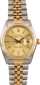 Used Rolex Datejust 16013 Champagne