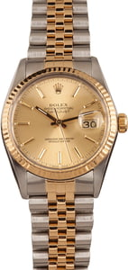 Used Rolex Two-Tone Datejust 16013 Fluted Bezel