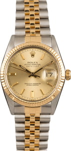 Pre-Owned Rolex Champagne Dial Datejust 16013